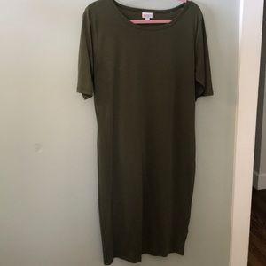 LuLaRoe Dresses - LuLaRoe Olive Green Julia